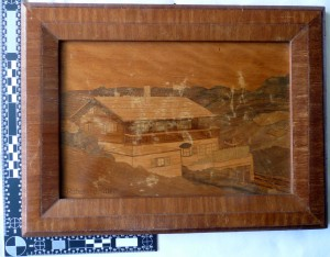 Marquetry by a German prisoner of war in Canada