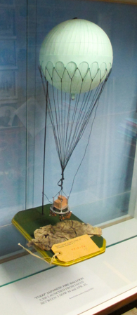 Modern model of Japanese Fugo fire balloon 1 to 500 scale (Henderson Homefront Collection)