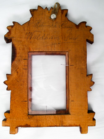 Picture frame from Kananaskis-Seebe by Heinrich PANZ or PENNS – back